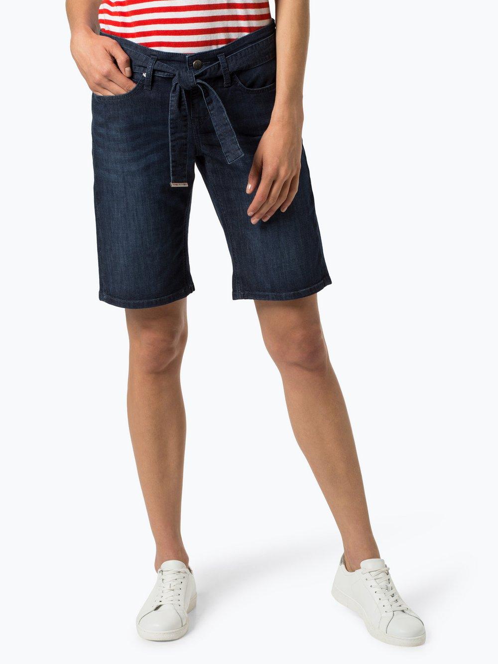 Street One – Damskie krótkie spodenki jeansowe – Jane, niebieski Van Graaf 442331-0001