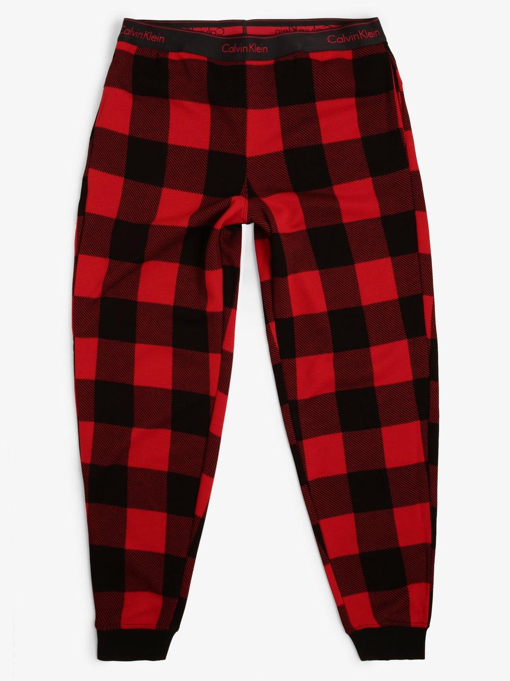 Calvin Klein - Damskie spodnie dresowe, czerwony