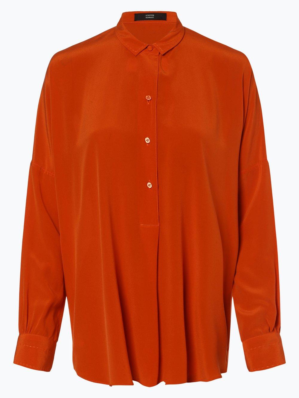 STEFFEN SCHRAUT - Bluzka damska z mieszanki jedwabiu, pomarańczowy