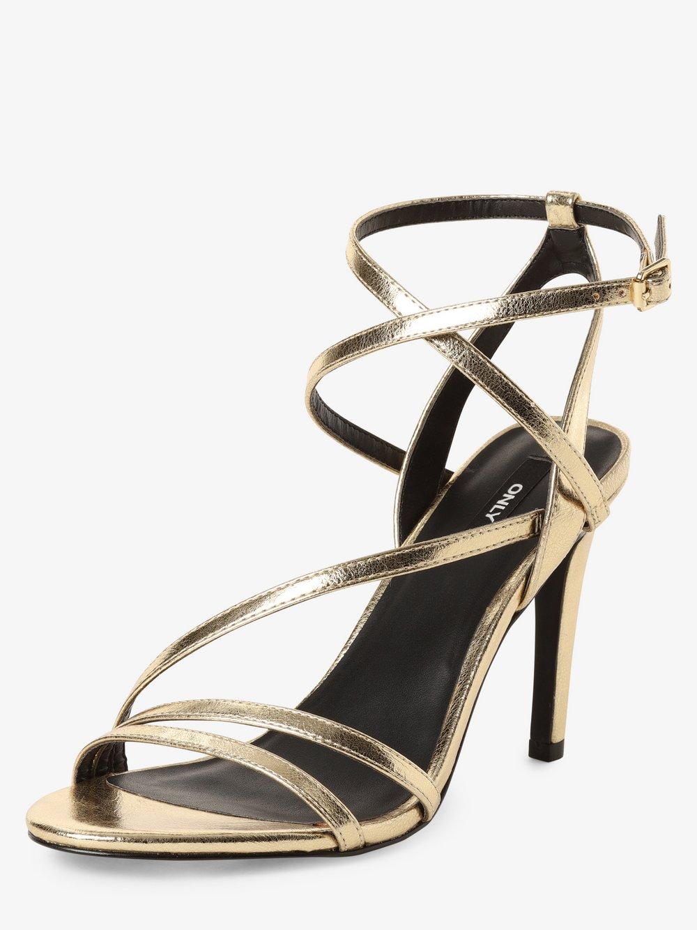 ONLY - Damskie sandały na obcasie, złoty
