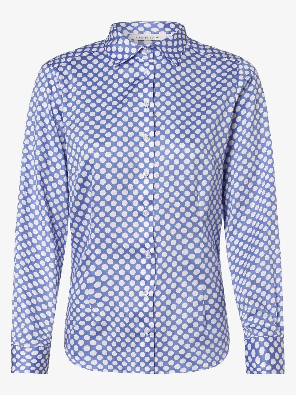 Eterna Comfort Fit - Bluzka damska – łatwa w prasowaniu, niebieski Eterna Comfort Fit