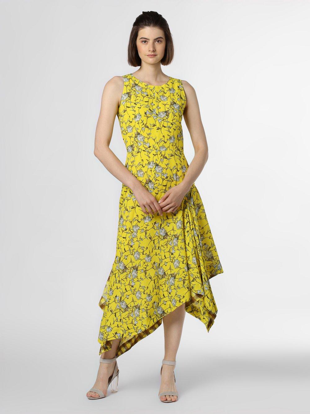 HUGO - Sukienka damska – Kilami, żółty