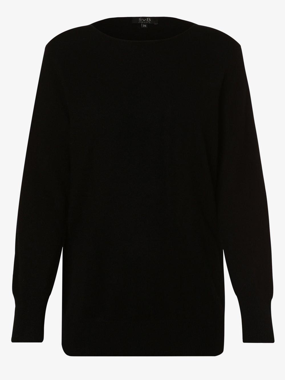 SvB Exquisit - Sweter damski z czystego kaszmiru, czarny