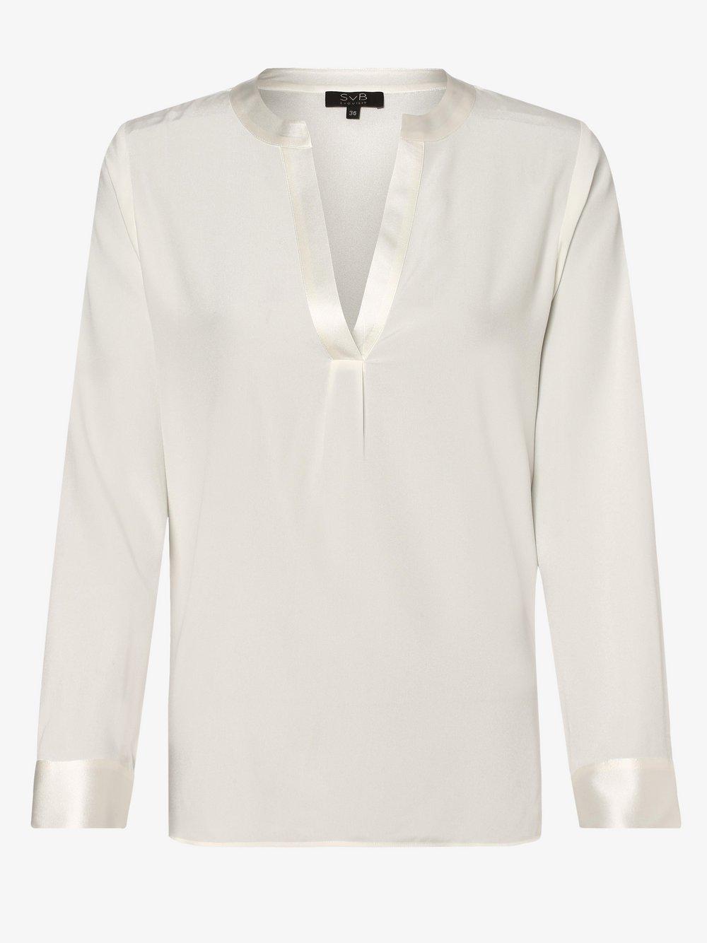 SvB Exquisit - Bluzka damska z mieszanki jedwabiu, beżowy