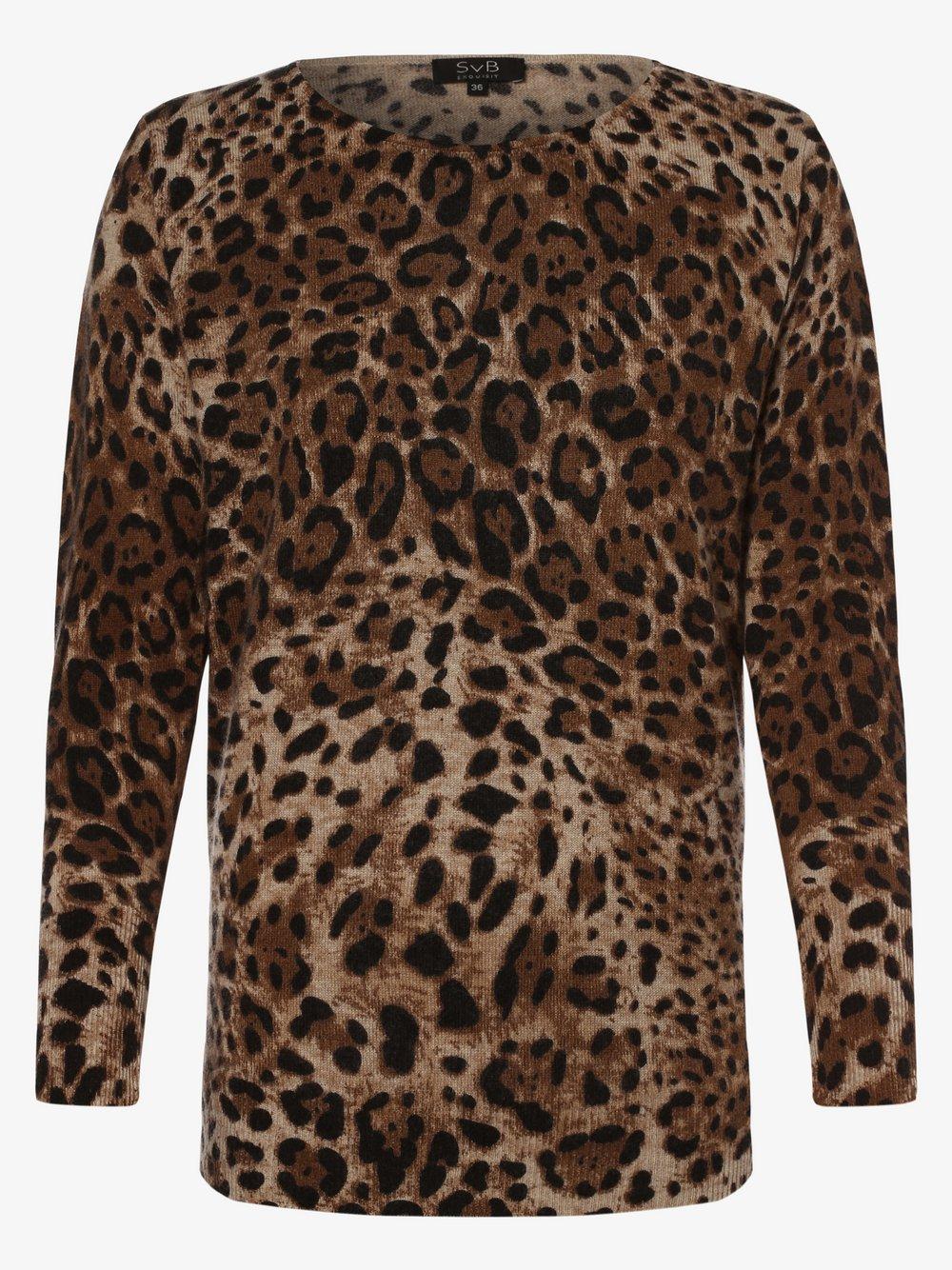 SvB Exquisit - Sweter damski z dodatkiem kaszmiru, beżowy