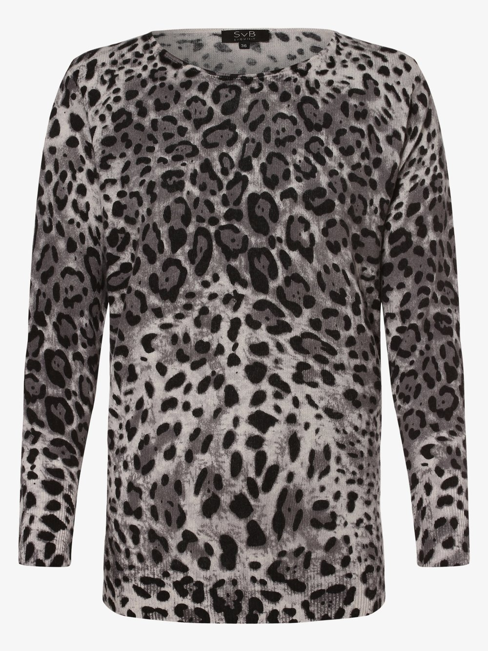 SvB Exquisit – Sweter damski z dodatkiem kaszmiru, szary Van Graaf 443468-0002-00440