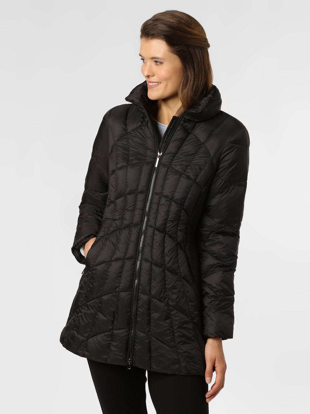 Franco Callegari - Damski płaszcz pikowany, czarny
