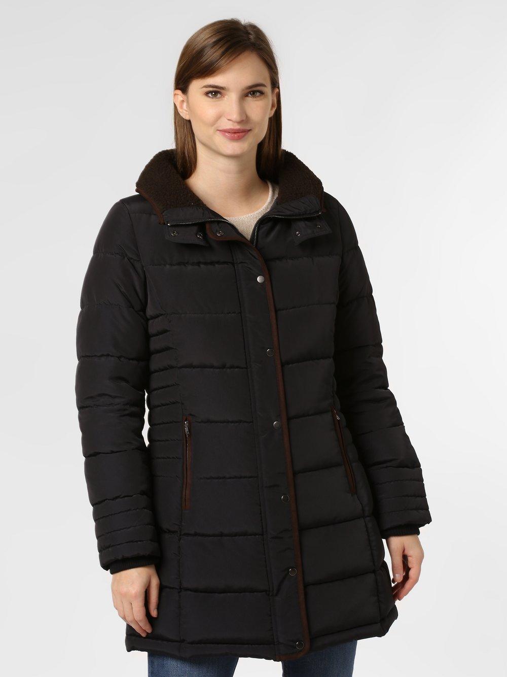 Marie Lund - Damski płaszcz pikowany, czarny