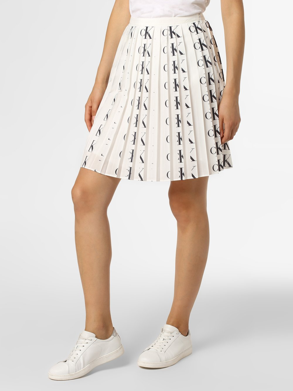 Calvin Klein Jeans - Spódnica damska, biały Calvin Klein Jeans