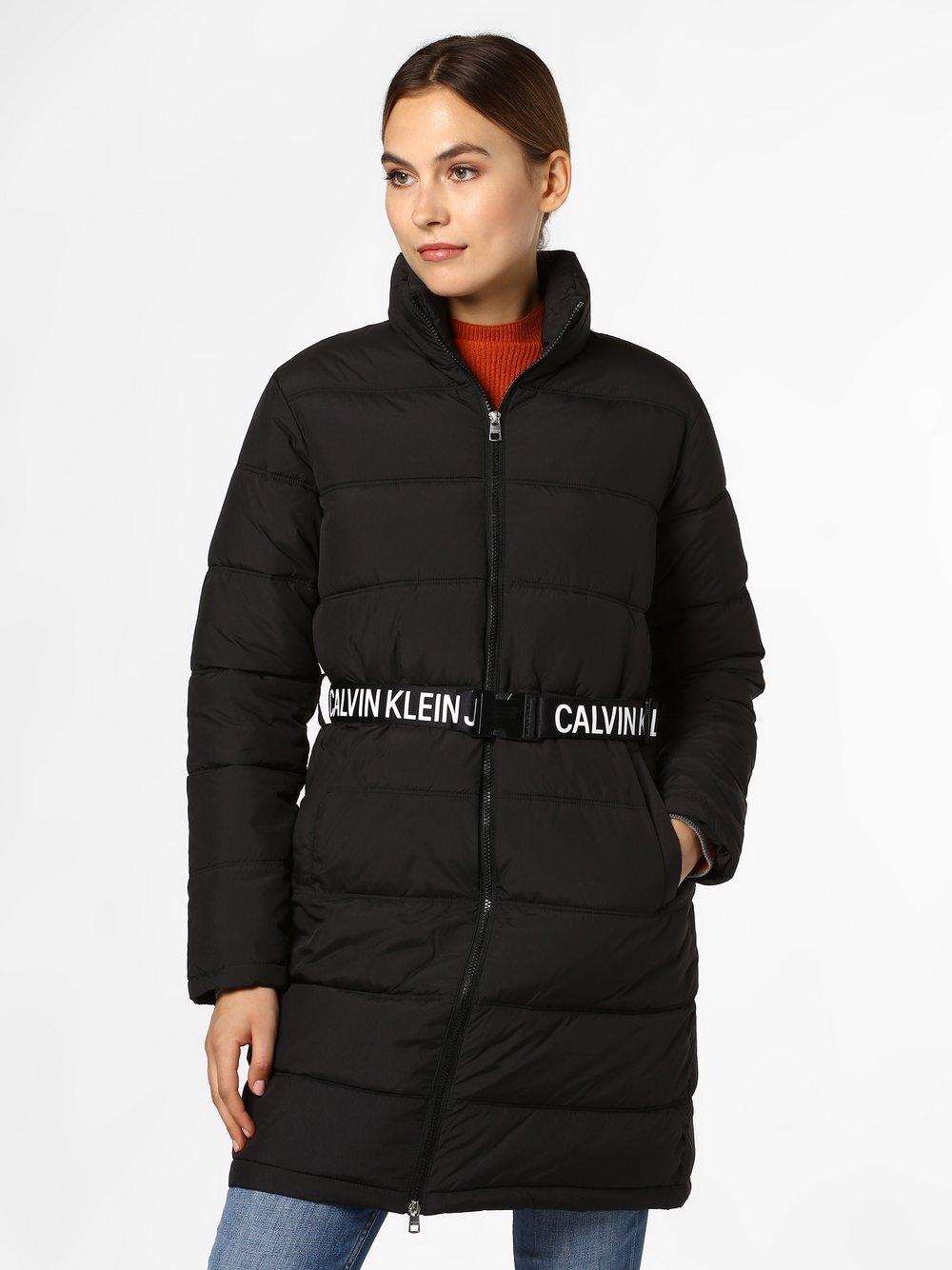 Calvin Klein Jeans - Damski płaszcz pikowany, czarny