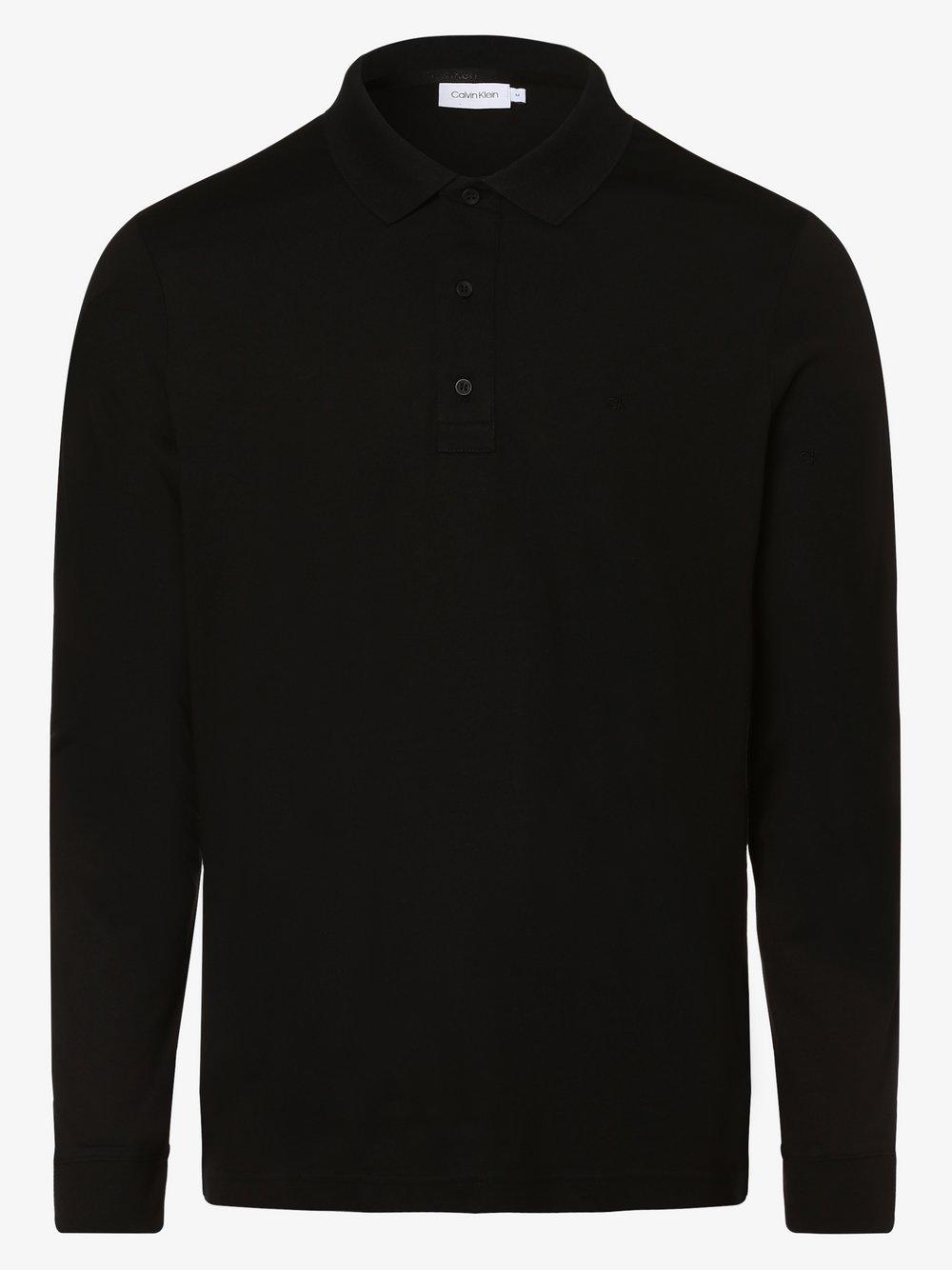 Calvin Klein - Męska koszulka polo, czarny