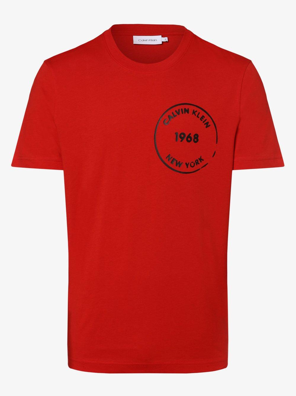 Calvin Klein - T-shirt męski, czerwony