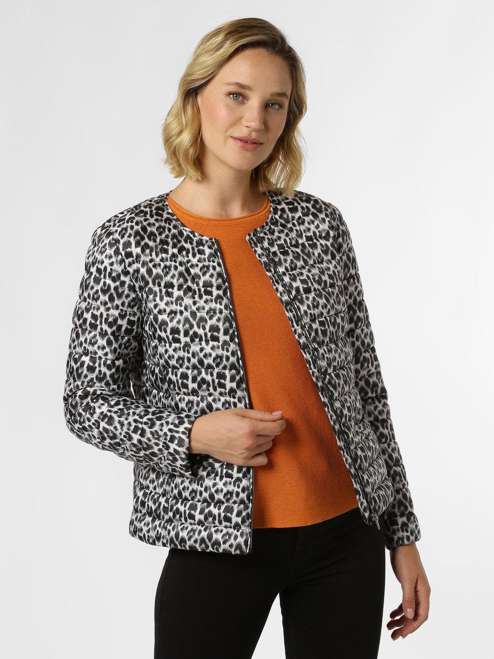 Esprit Collection - Damski płaszcz pikowany, czarny