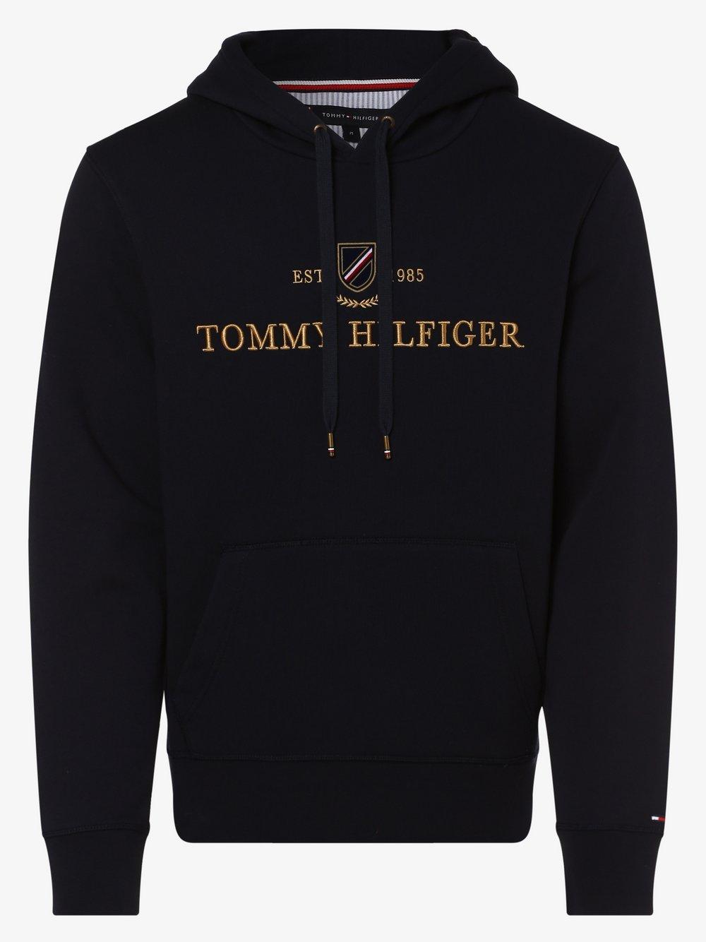Tommy Hilfiger - Męska bluza nierozpinana, niebieski