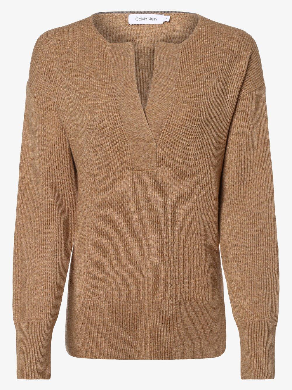 Calvin Klein - Sweter damski, beżowy