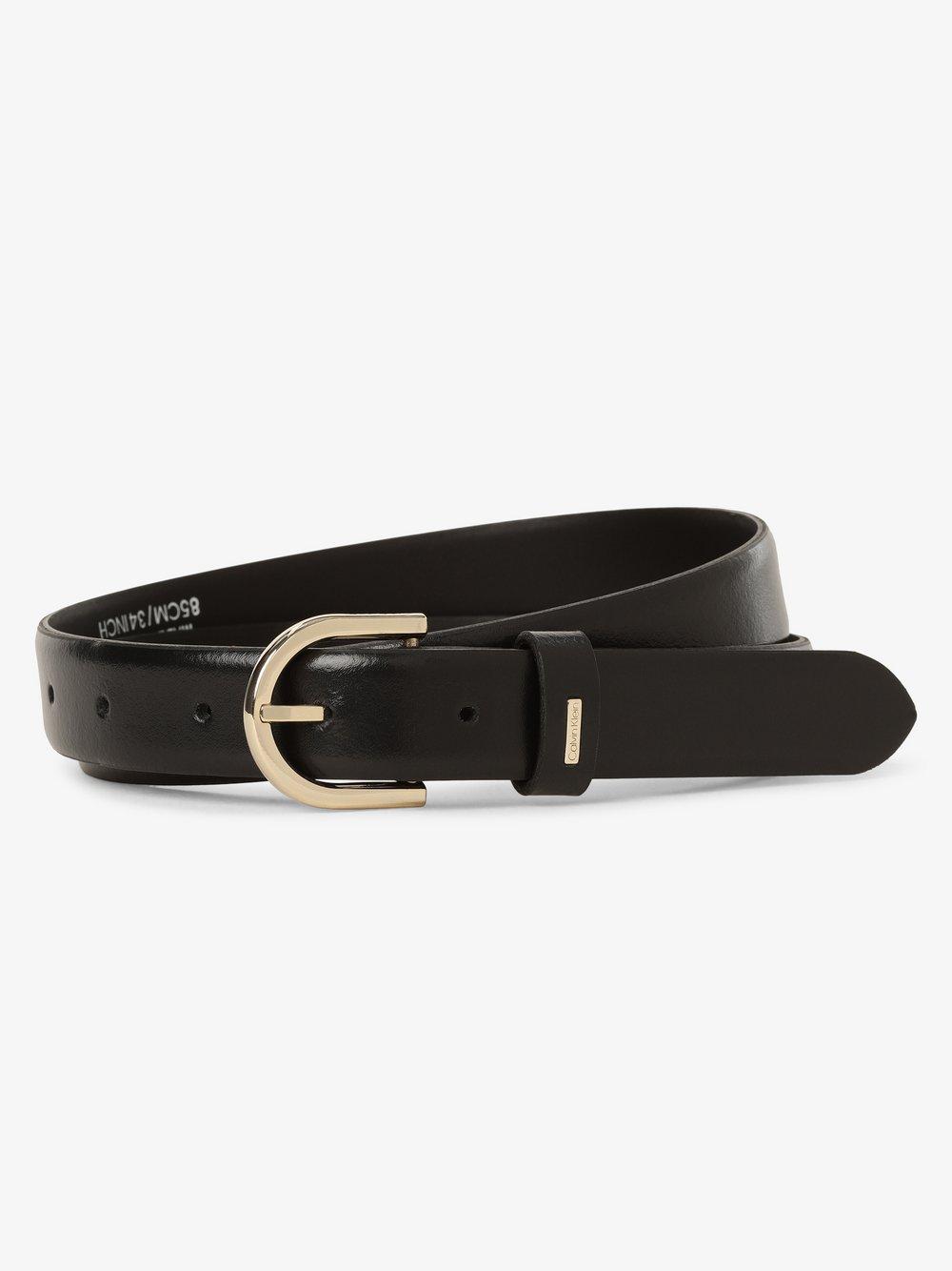 Calvin Klein - Damski pasek skórzany, czarny