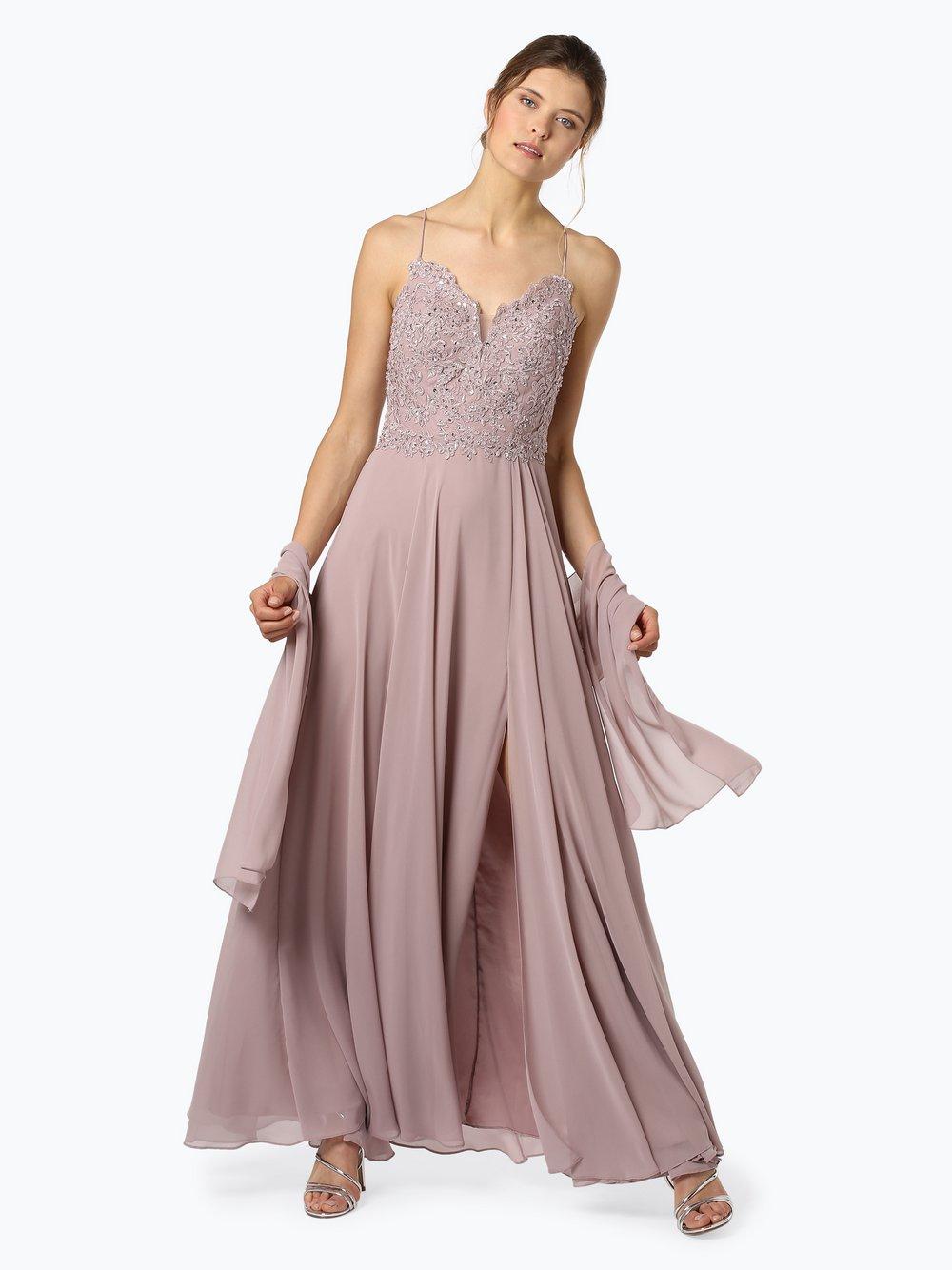 Unique – Damska sukienka wieczorowa z etolą, różowy Van Graaf 444659-0001