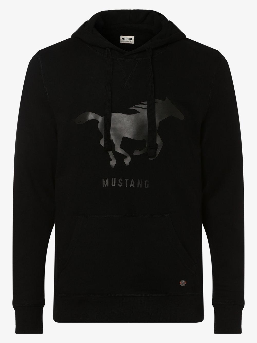 Mustang - Męska bluza nierozpinana, czarny