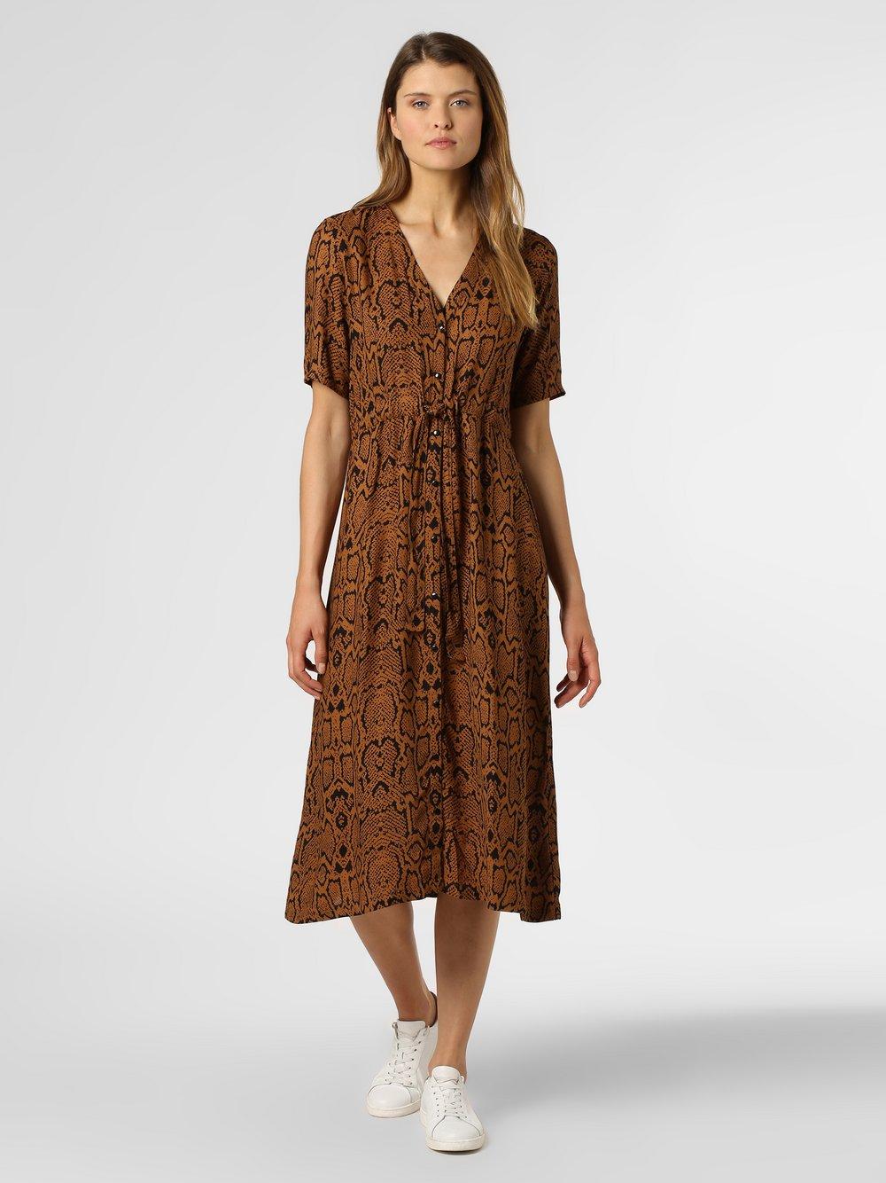 Minimum – Sukienka damska – Biola, brązowy Van Graaf 445208-0001