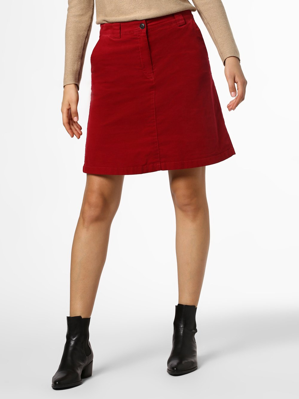 Marc O'Polo - Spódnica damska, czerwony