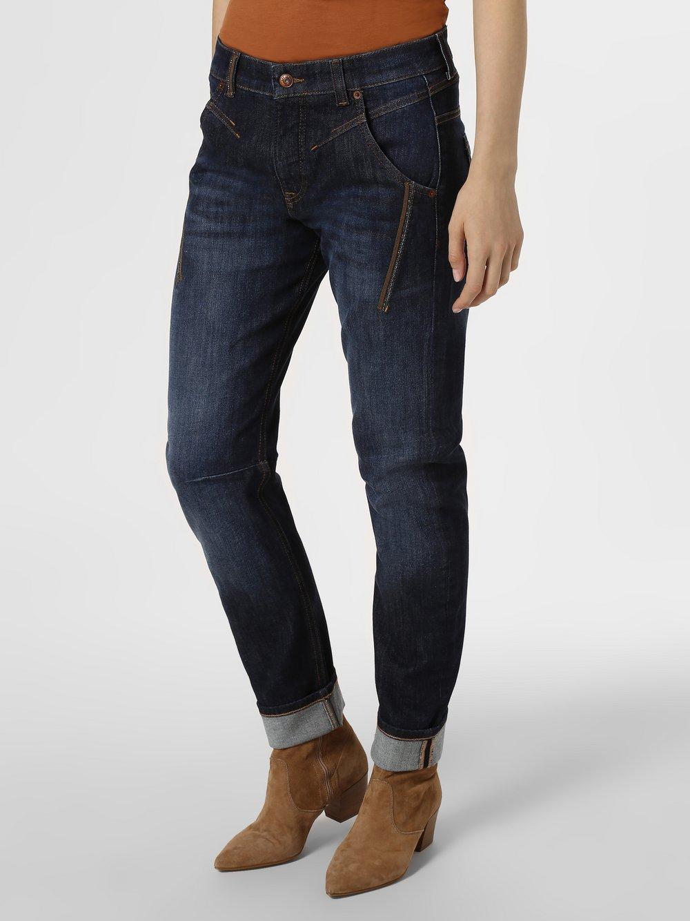 MAC - Spodnie damskie, niebieski