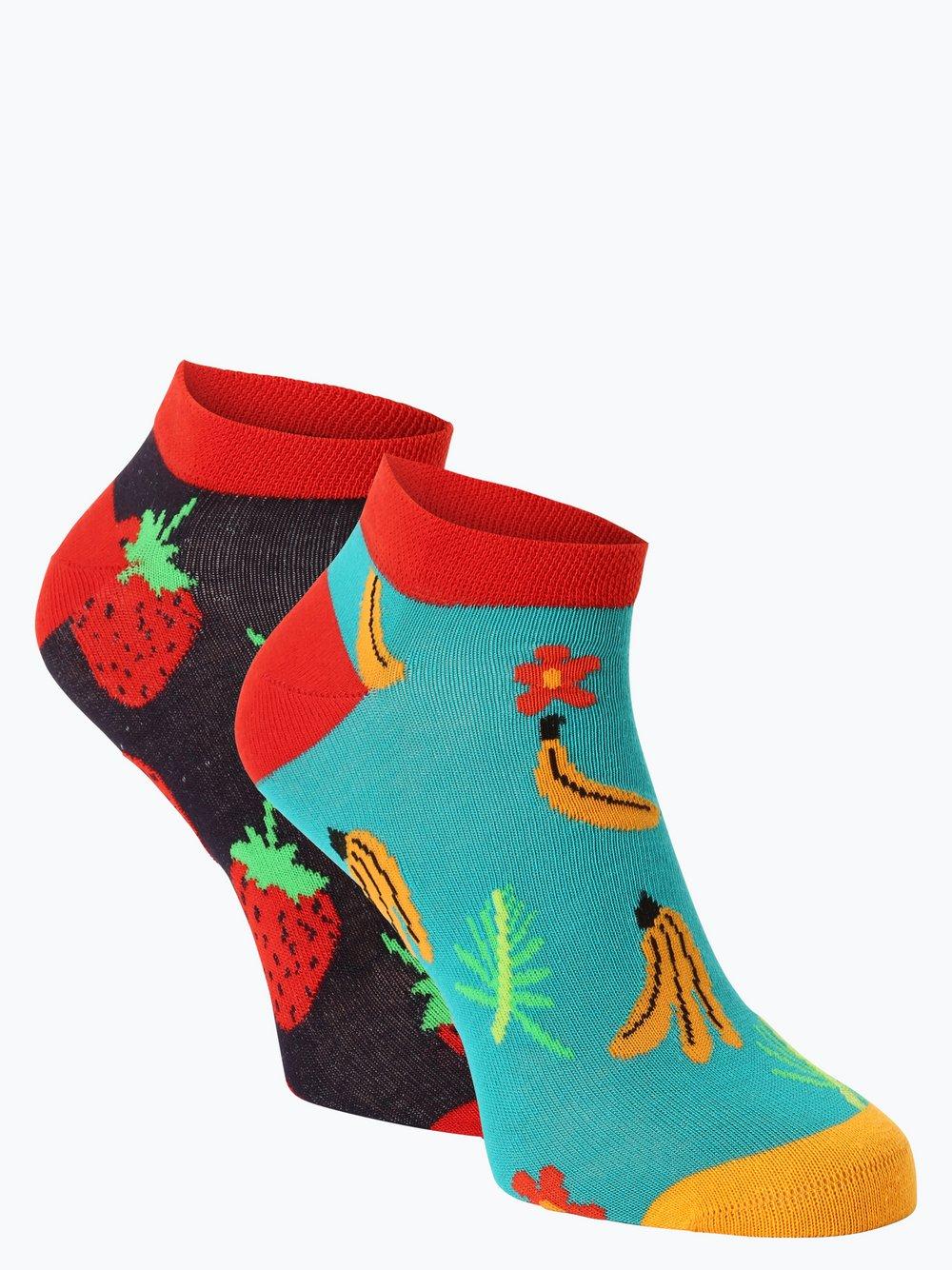 Unabux – Skarpety damskie pakowane po 2 szt., niebieski Van Graaf 446494-0001-04146