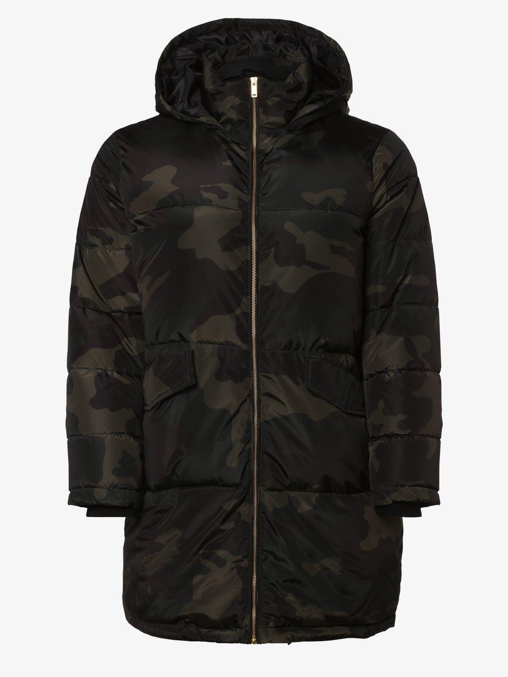 Junarose - Damski płaszcz pikowany – Jrmilan, czarny