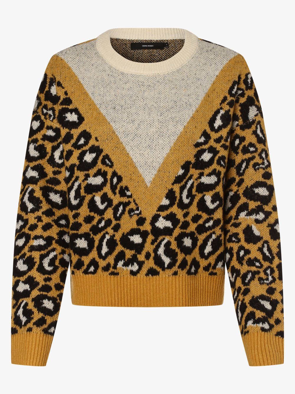 Vero Moda - Sweter damski – Vmleon, beżowy