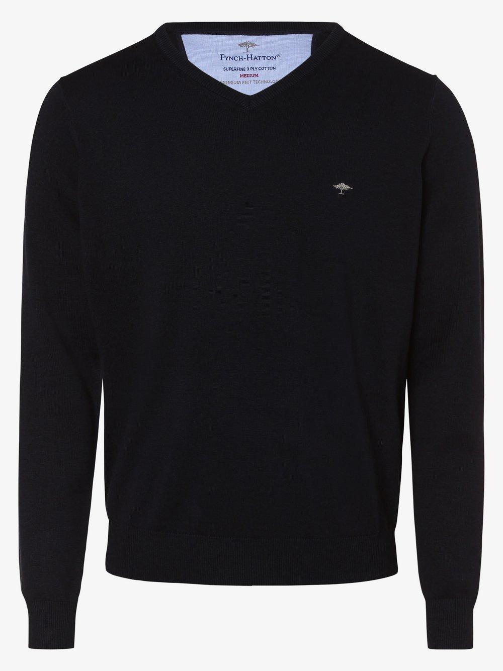 Fynch-Hatton – Sweter męski, niebieski Van Graaf 447140-0003