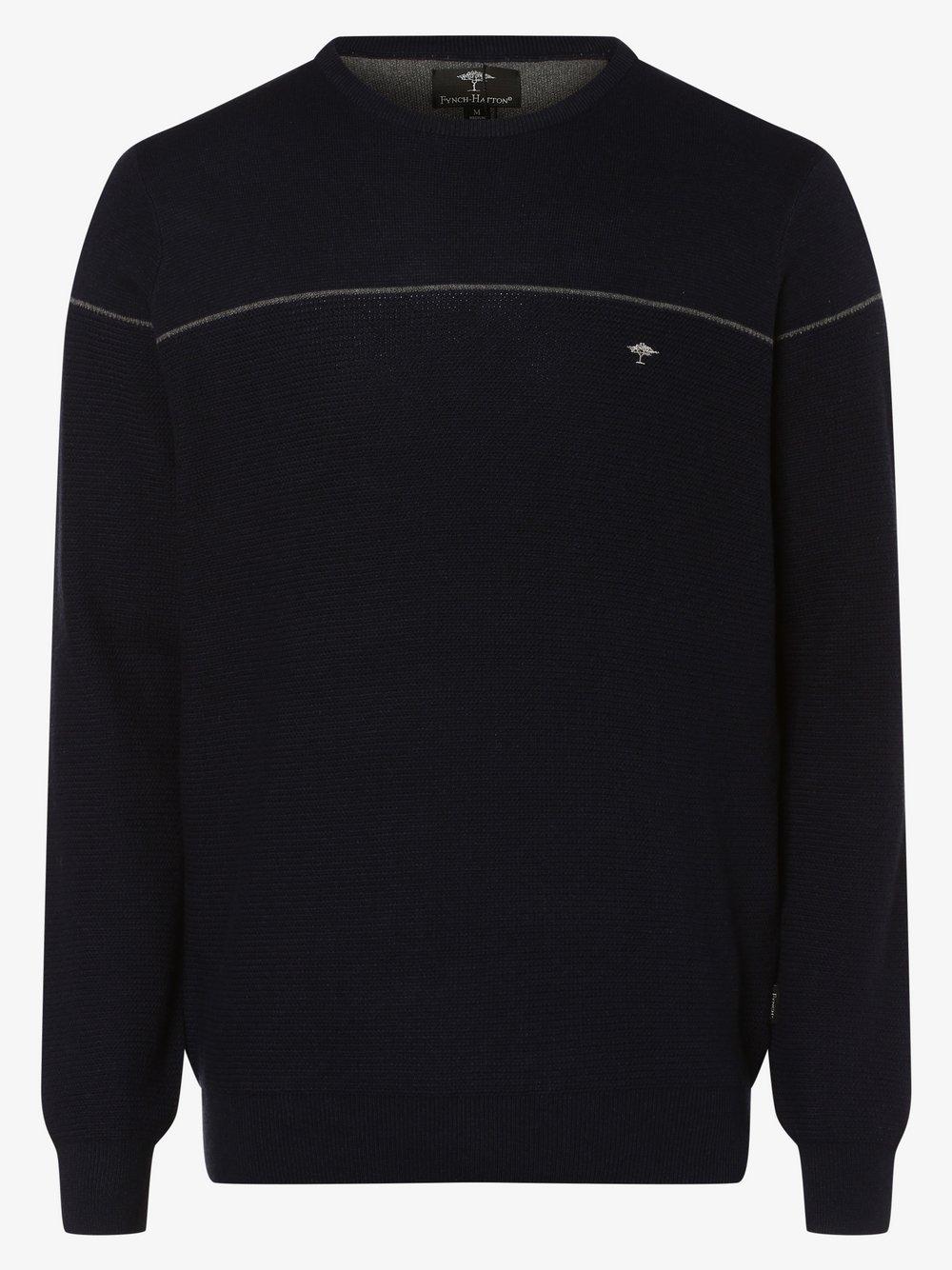 Fynch-Hatton – Sweter męski, niebieski Van Graaf 447144-0002-09970