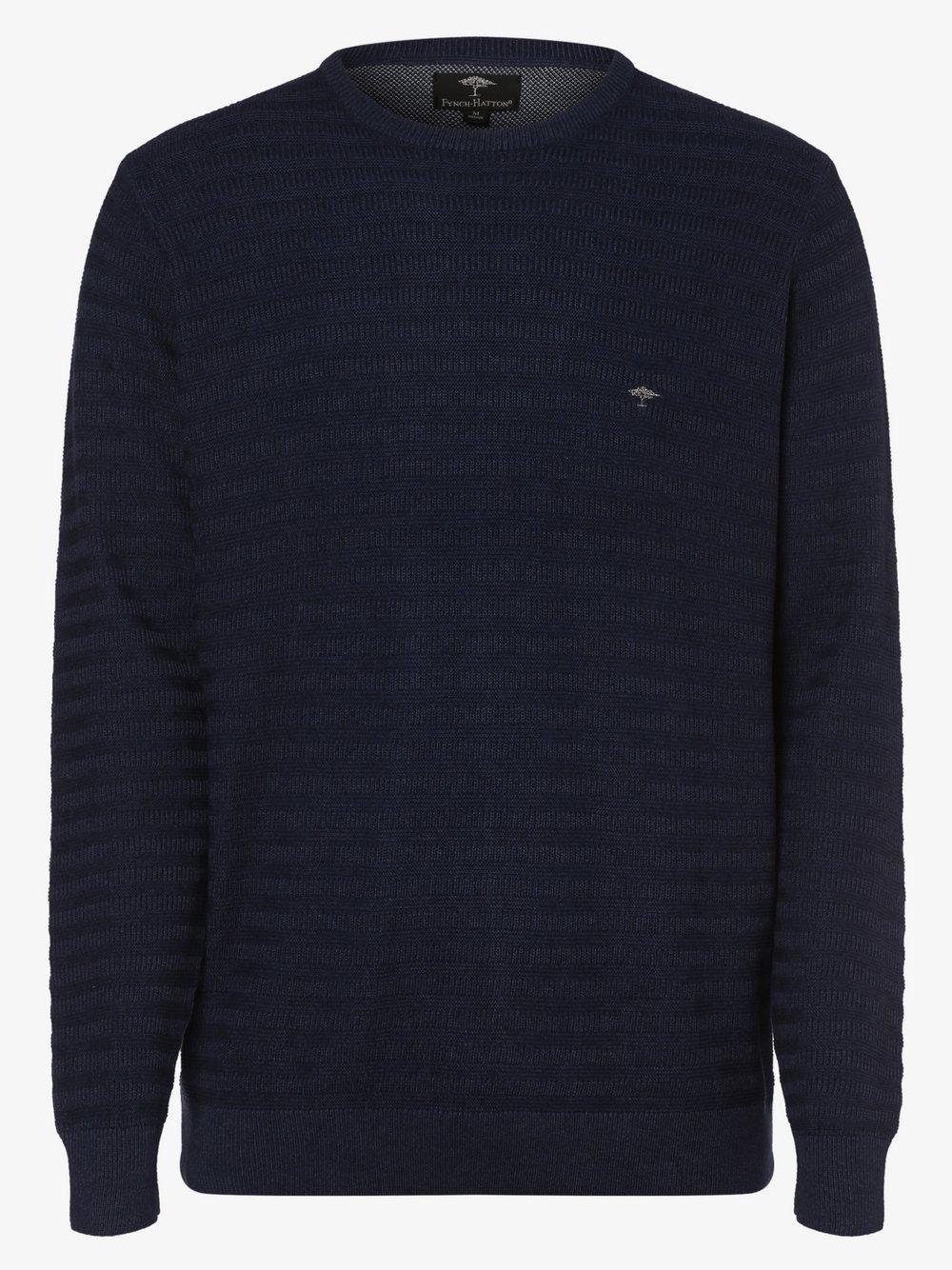 Fynch-Hatton – Sweter męski, niebieski Van Graaf 447146-0002