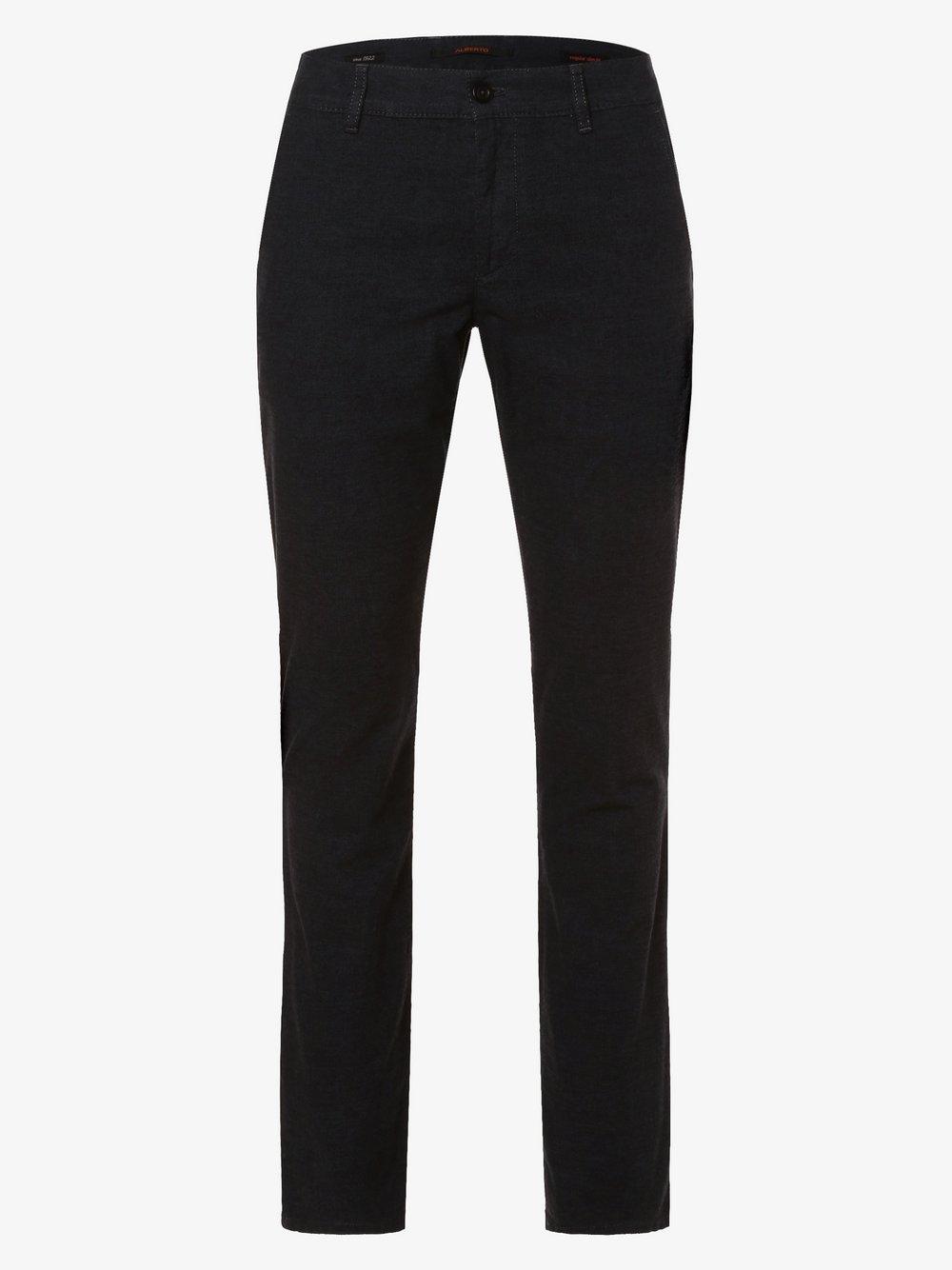 Alberto – Spodnie męskie – Lou, niebieski Van Graaf 447216-0001
