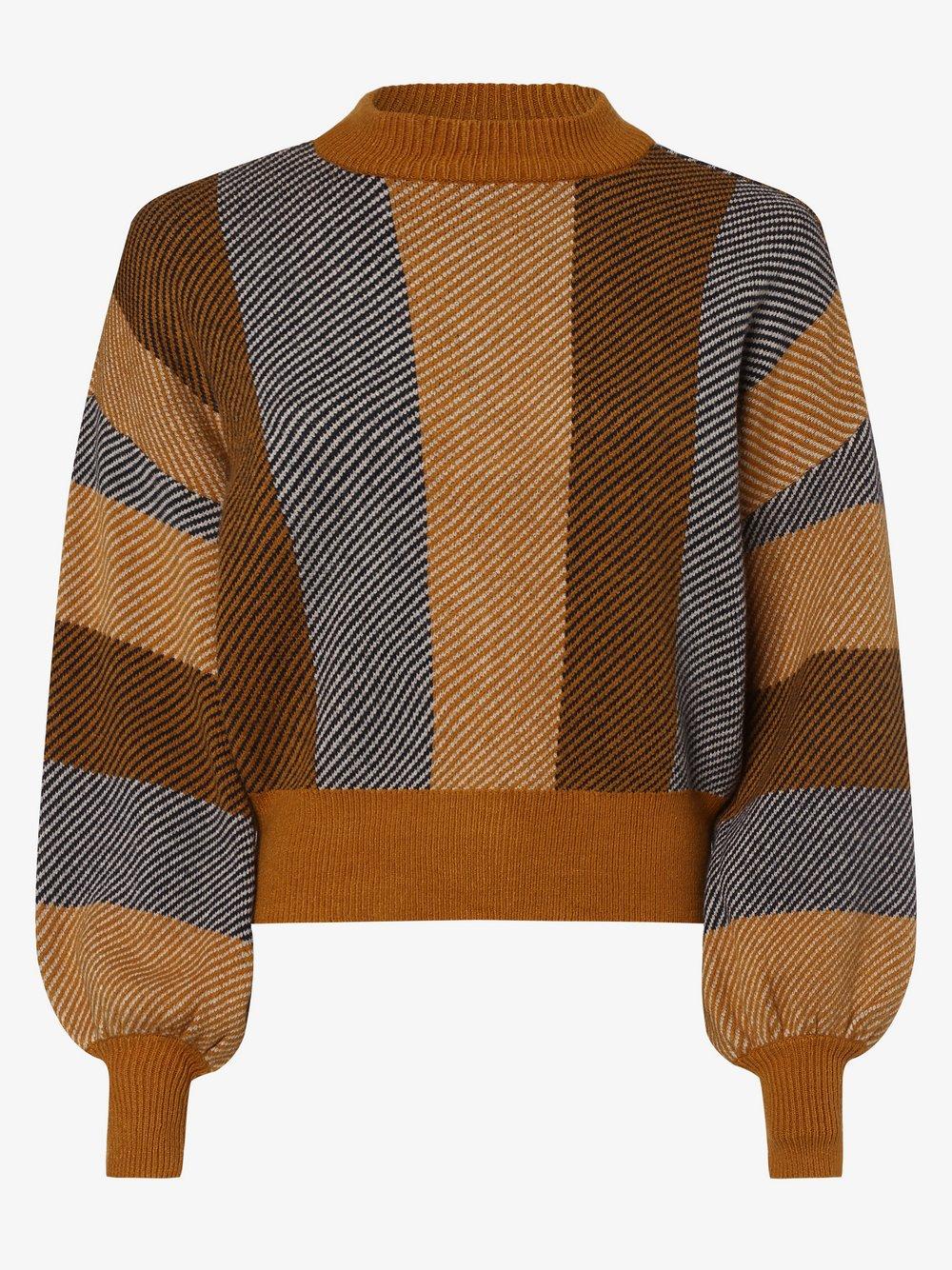 Y.A.S - Sweter damski – Yasharper, brązowy