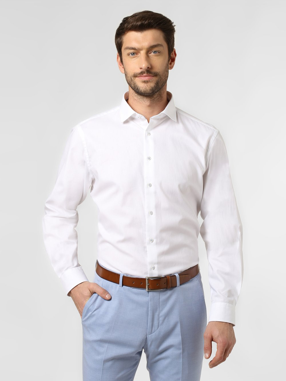 James – Koszula męska, biały Van Graaf 447569-0001-00420
