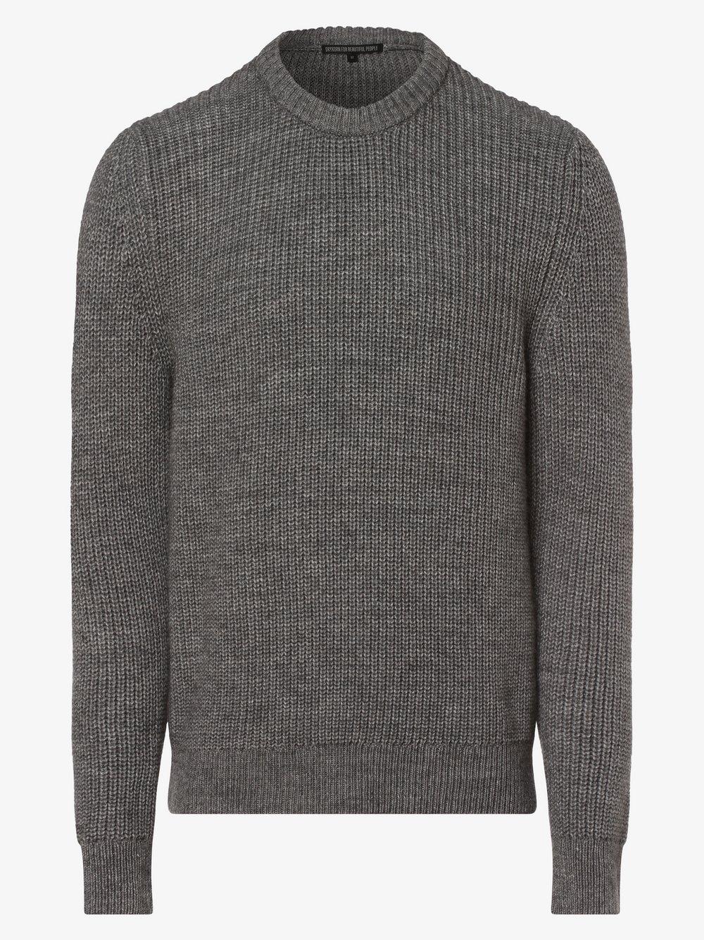 Drykorn - Sweter męski z dodatkiem alpaki – Hendry, szary