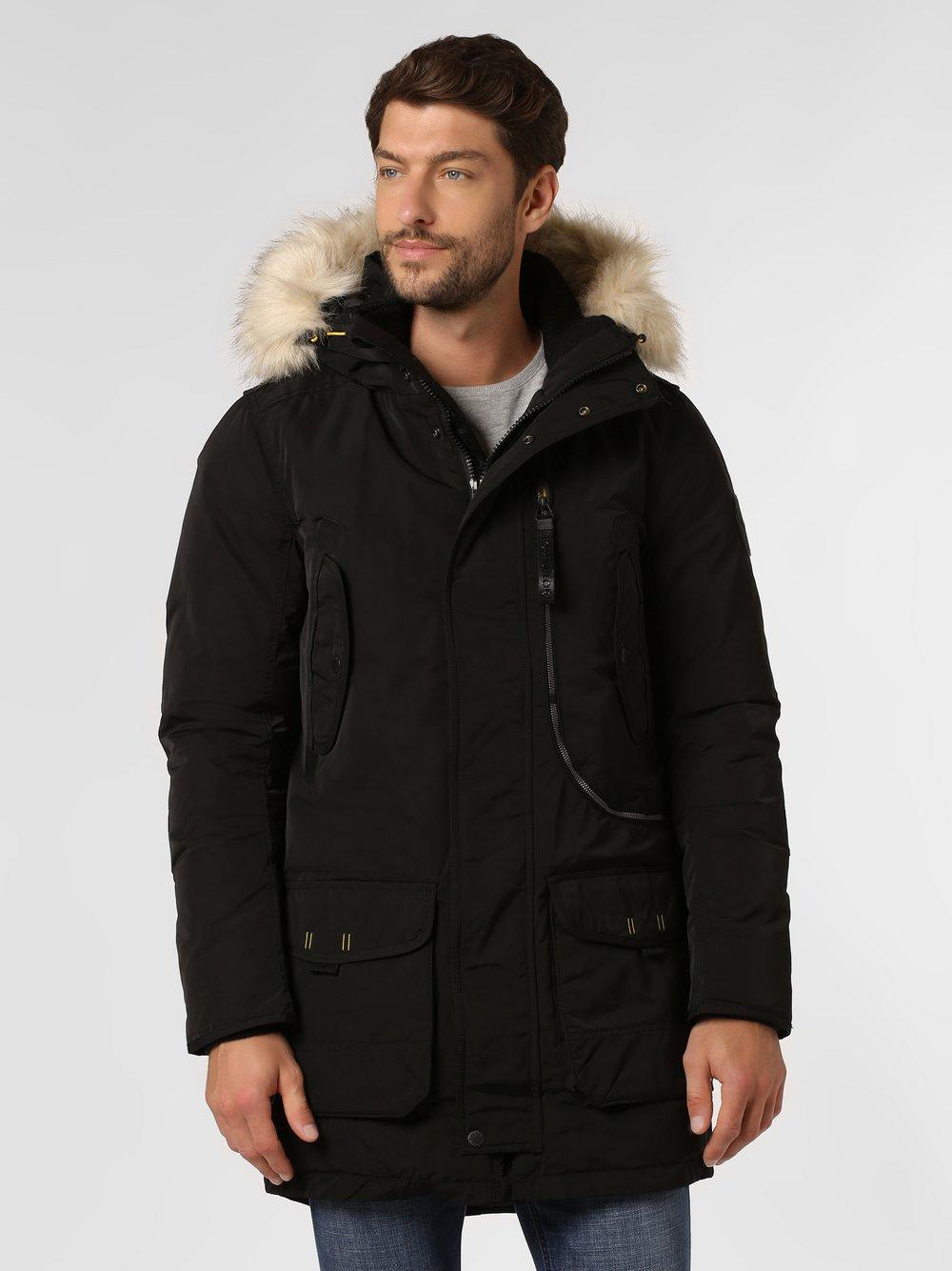 Tom Tailor – Męski płaszcz funkcyjny, czarny Van Graaf 447819-0002