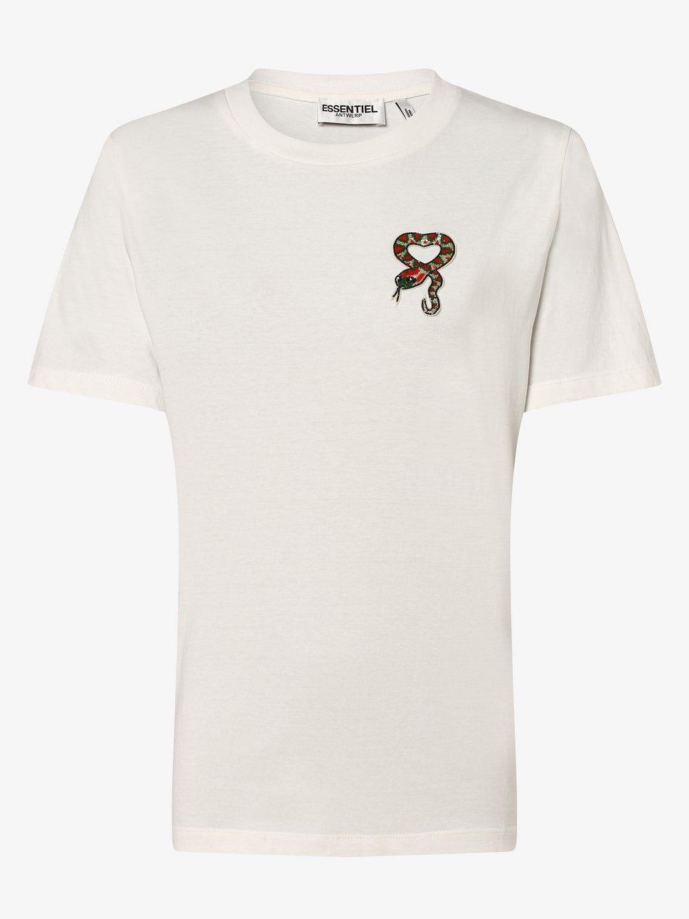 Essentiel Antwerp – T-shirt damski, biały Van Graaf 447887-0001-09920