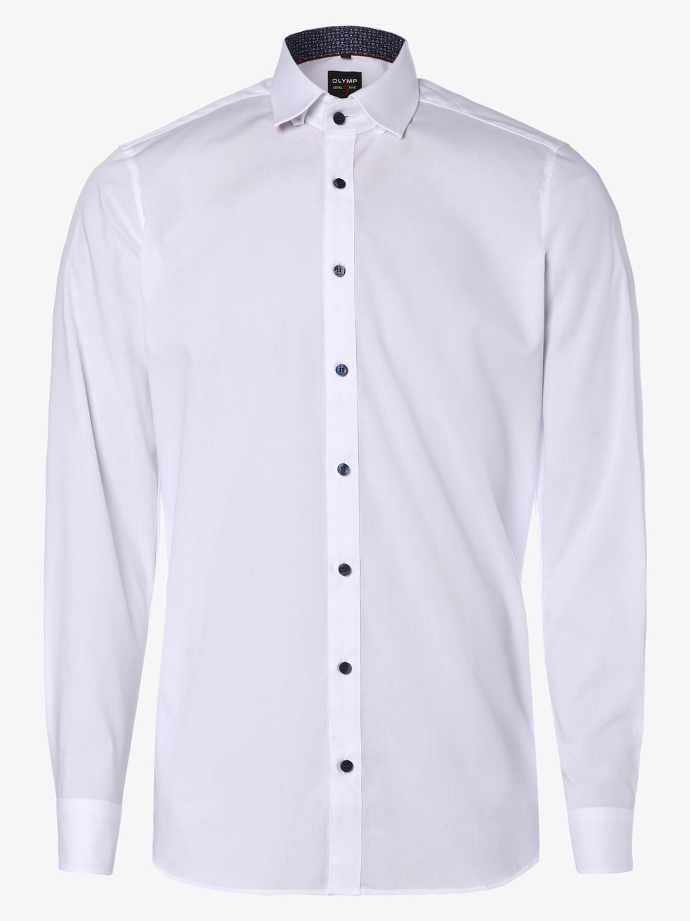 Olymp Level Five – Koszula męska łatwa w prasowaniu, biały Van Graaf 447913-0001