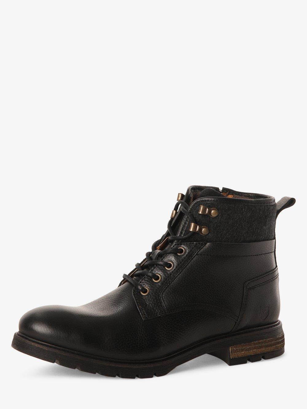 Pantofola d'Oro - Kozaki męskie ze skóry – Levico Uomo High, czarny