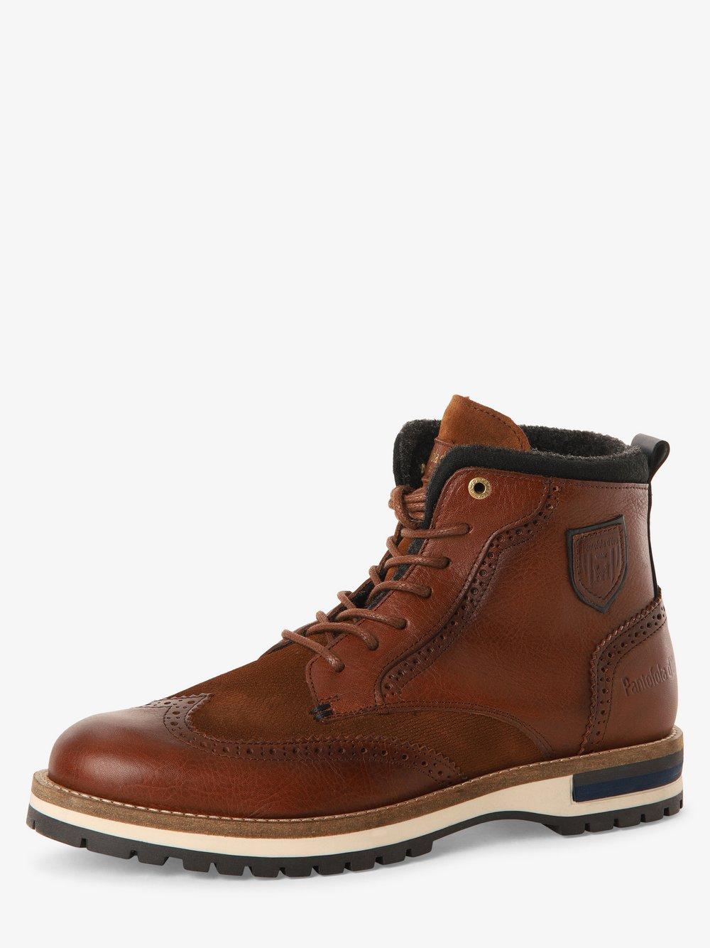 Pantofola d'Oro - Kozaki męskie ze skóry, brązowy