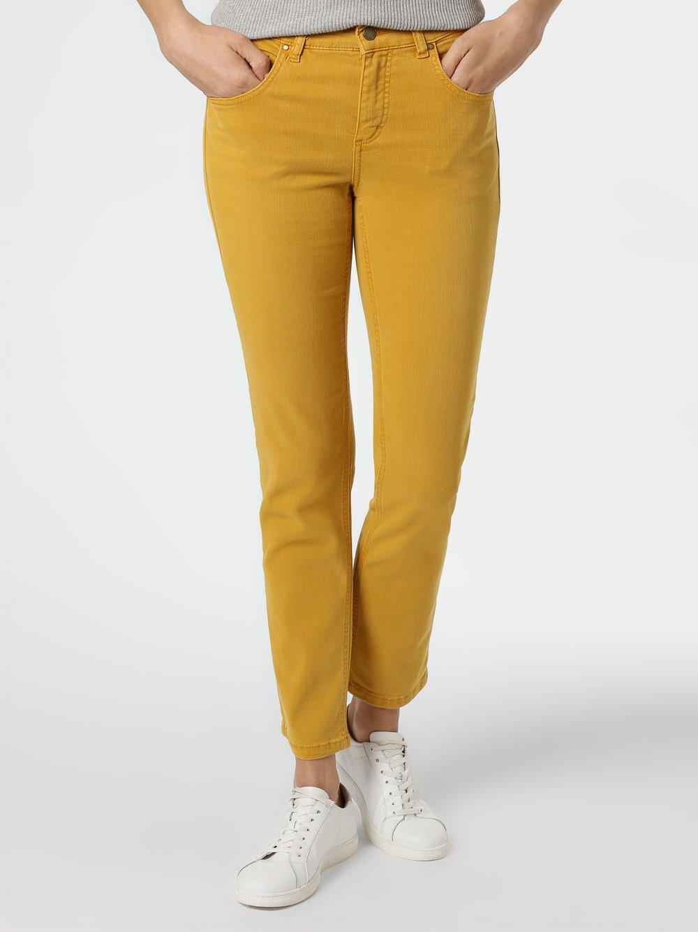 Angels – Jeansy damskie – Cici, żółty Van Graaf 448206-0001