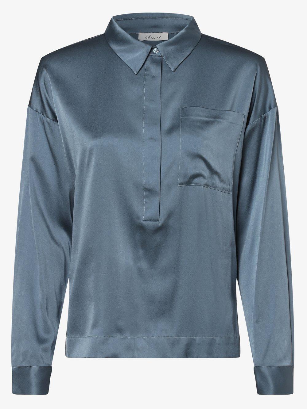 iheart – Bluzka damska z dodatkiem jedwabiu – Estella, niebieski Van Graaf 448232-0001