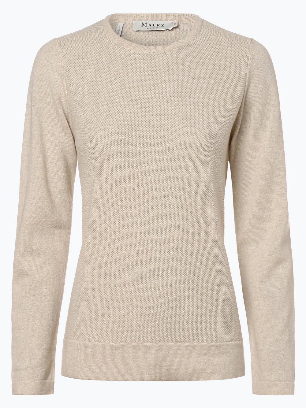 März – Damski sweter z wełny merino, różowy Van Graaf 448383-0001-00480