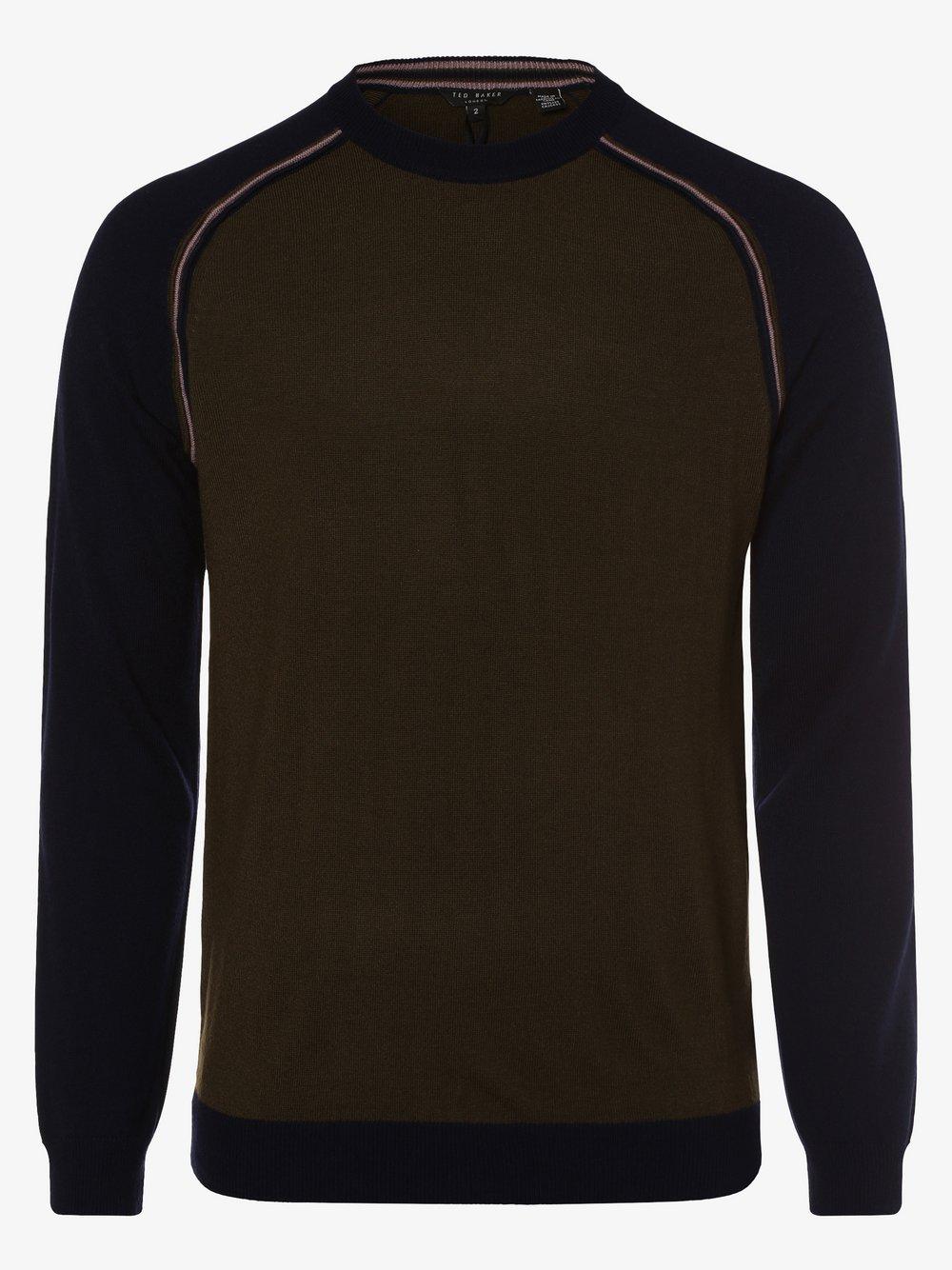 Ted Baker – Sweter męski – Squez, zielony Van Graaf 448427-0001-09990