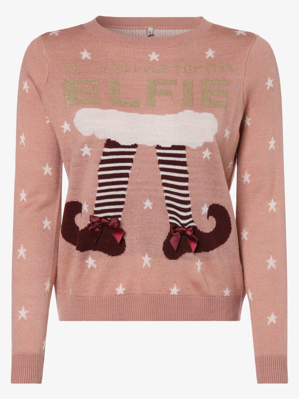 ONLY - Sweter damski – Onlelfie Time, różowy