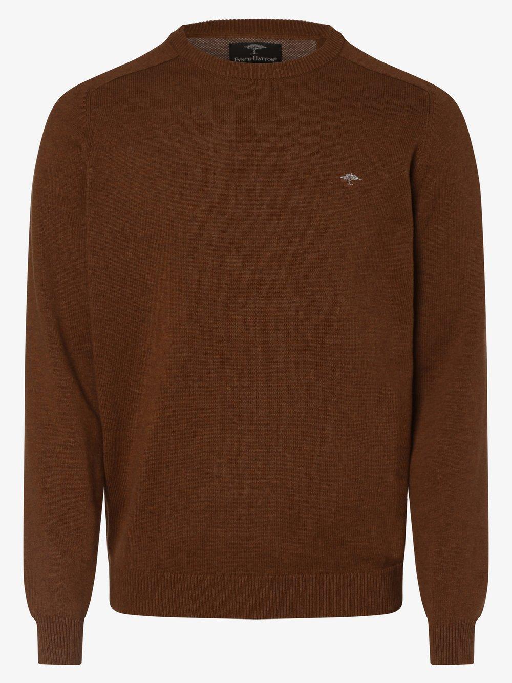 Fynch-Hatton – Sweter męski, beżowy Van Graaf 448641-0008