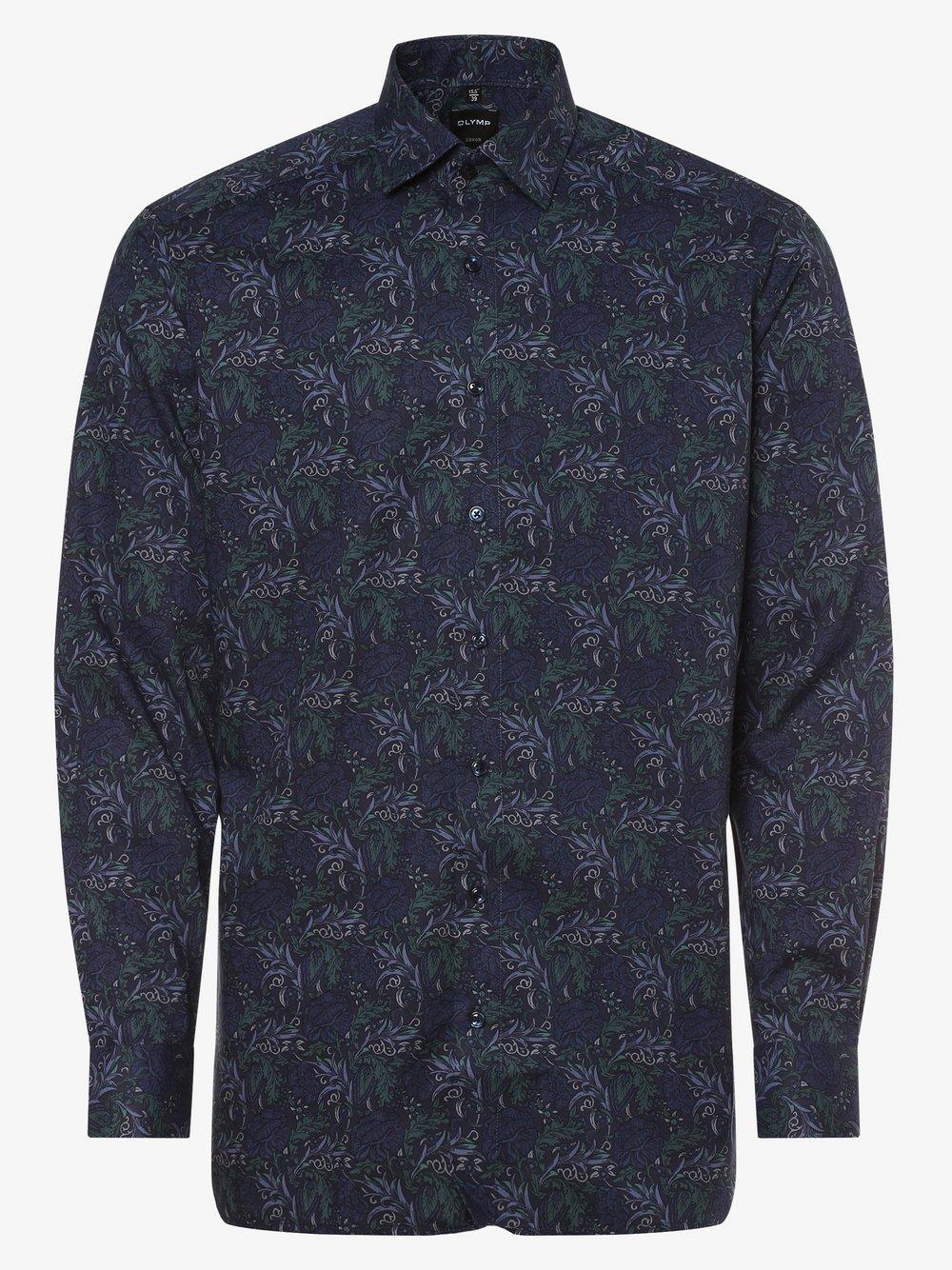 OLYMP Luxor modern Fit – Koszula męska – niewymagająca prasowania, niebieski Van Graaf 449018-0001