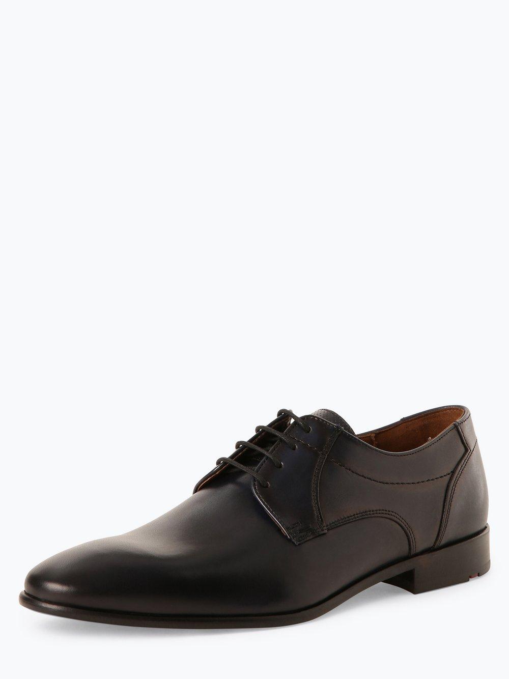 Lloyd – Męskie buty sznurowane ze skóry – Manon, niebieski Van Graaf 449111-0002-00075