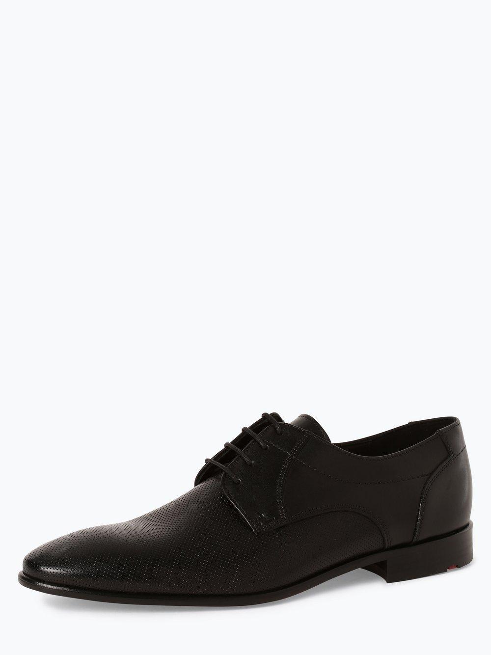 Lloyd – Męskie buty sznurowane ze skóry – Maine, czarny Van Graaf 449136-0001