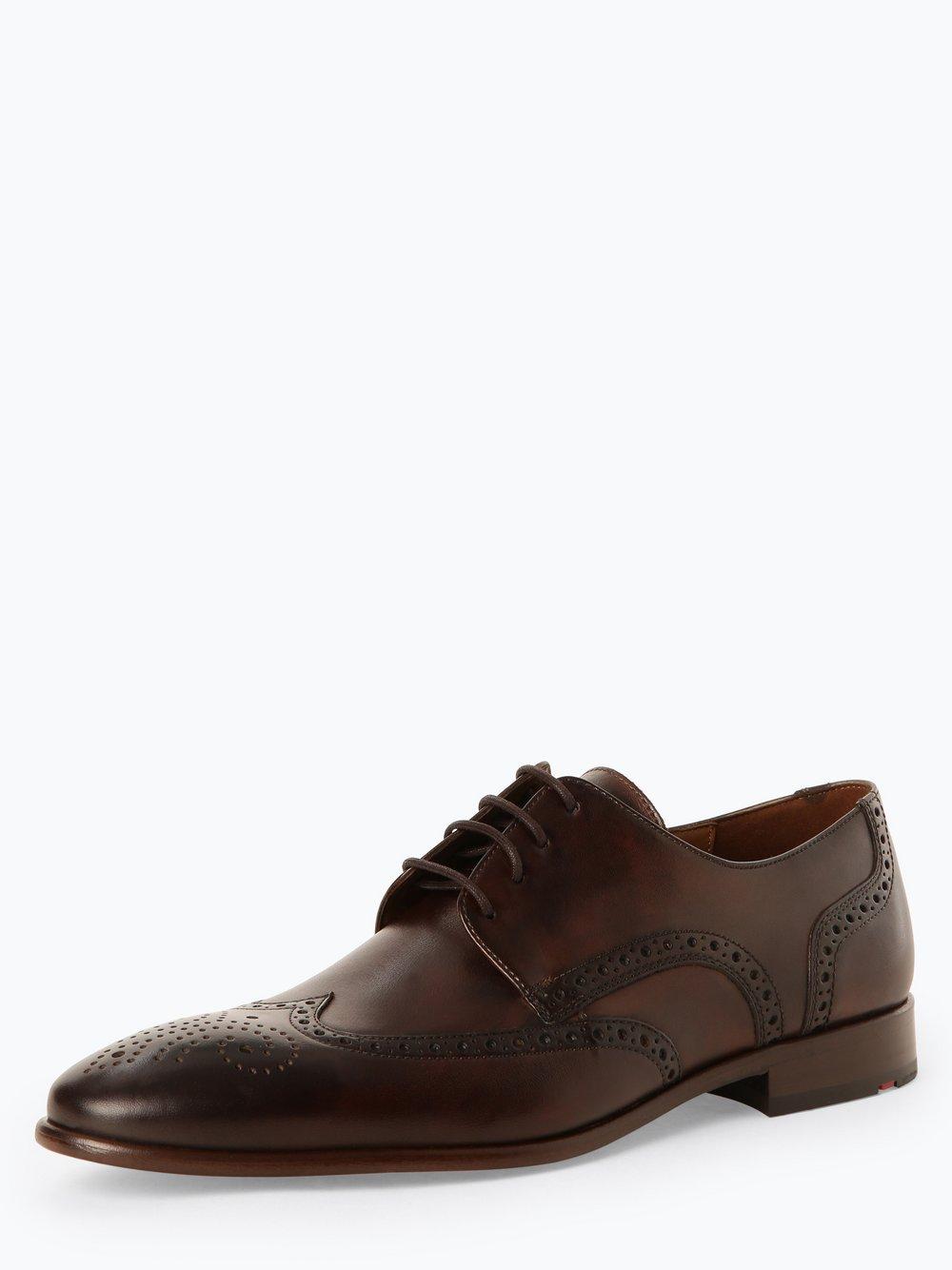 Lloyd – Męskie buty sznurowane ze skóry – Monte, brązowy Van Graaf 449154-0001-00075